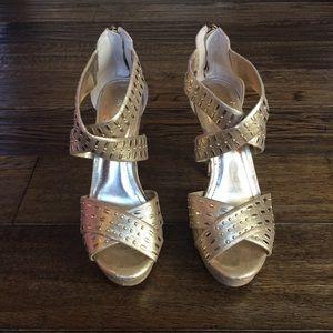"BCBGeneration ""Maddison"" Gold heels"